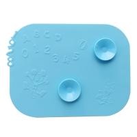 迪士尼(Disney)米奇儿童餐具婴幼儿吸盘防翻餐垫餐盘(纯真蓝)