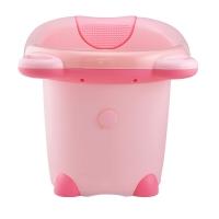 日康 儿童浴桶 宝宝洗澡盆 婴儿浴盆 适用于0-6岁 粉色小熊RK-X1001-2