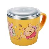 迪士尼(Disney)韩国进口维尼儿童不锈钢水杯餐具(带盖)婴儿喝水杯子07