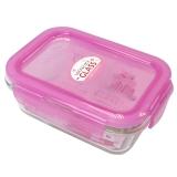 乐扣乐扣(LOCKLOCK)系列密封型耐热玻璃保鲜盒容器380ml LLG422-PKT粉色