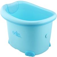 日康 儿童浴桶 宝宝洗澡盆 婴儿浴盆 加大 适用于0-12岁 蓝色 RK-X1002-1
