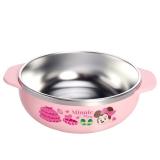 迪士尼(Disney)(韩国进口)米妮儿童不锈钢餐具 婴儿碗辅食双耳大碗(带盖)03