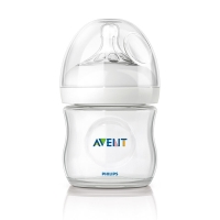 飞利浦新安怡 英国进口 AVENT 宽口径自然原生PP奶瓶4oz/125ml单个装SCF690/17