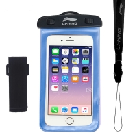 李宁 LI-NING 手机防水袋 游泳包潜水套 手机防水包 723 蓝色