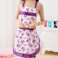图跃(TUYUE)户外烧烤围裙可爱公主围裙防水加厚围裙家居厨房时尚围裙烘焙围裙 紫色