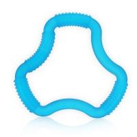 布朗博士(DrBrown's)婴儿牙胶 宝宝磨牙棒 咬咬训练器 三环形(3个月以上)(蓝色)TE100