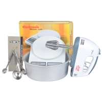 千团精工 烘焙组合套装工具 打蛋器+电子称+量勺+8寸阳极蛋糕模