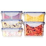 乐扣乐扣(locklock)保鲜盒五件套 比得兔系列保鲜套装HPL855-PRS001