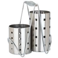 美厨(maxcook)不锈钢筷笼筷子筒 加厚沥水置物筷子架两件套 MCKL-02