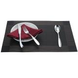 欧橡OAK PVC欧式西餐垫餐桌垫餐垫加厚隔热垫盘垫碗垫桌布 咖啡色二件套 C011