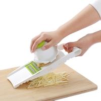 美之扣 多功能切丝切片器 带护手刨丝擦丝切菜机器 绿色5件套