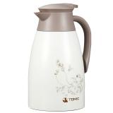 特美刻(TOMIC)保温壶 家用不锈钢保温瓶热水瓶暖壶1JBS2046 1.5L 白色