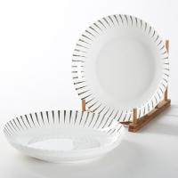 佳佰 盘子流星雨系列8英寸陶瓷饭盘套装2件套
