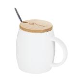 特美刻(TOMIC)马克杯 咖啡杯子情侣陶瓷杯懒人大容量牛饮水杯茶杯 1BPM1326 白色 500ML