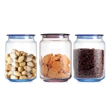 乐美雅 Luminarc 0.75升 3只装 凝彩储物干果密封罐保鲜罐