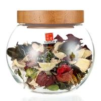 一屋窑 耐高温玻璃茶叶罐 密封罐 糖果咖啡豆储物罐 740ml