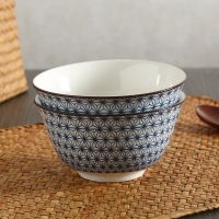 佳佰 碗满天星系列5英寸和韵陶瓷饭碗套装2件套