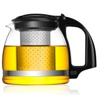 唯成 700ml热卖加厚耐热玻璃不锈钢过滤茶壶 泡花草玻璃茶具 紫兰泡茶壶 ZL700