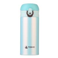特美刻(TOMIC)保温杯 不锈钢女士男士水杯子便携防漏水壶 1BBS1225 薄荷绿