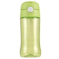 THERMOS膳魔师塑料水杯450ML儿童吸管杯Tritan材质 F4011T GR
