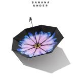 琉璃小黑伞双层女太阳伞防晒晴雨伞折叠-三折款,琉璃