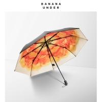 雨棠小黑伞双层女太阳伞防晒晴雨伞折叠-三折款,雨棠