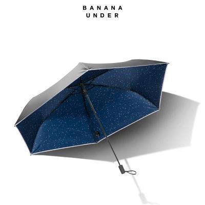 极养生医馆 焦下太阳伞,蕉下,超轻随身伞黑胶防晒太阳伞晴雨伞折