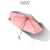 超轻随身伞黑胶防晒太阳伞晴雨伞折叠-三折款,樱花粉