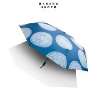 北途系列小黑伞双层女太阳伞防晒晴雨伞折叠-三折款,墨蓝