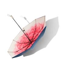 洛荷小黑伞双层女太阳伞防晒晴雨伞折叠-三折款,洛荷