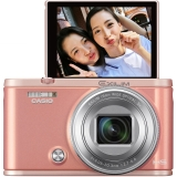 卡西欧(CASIO)ZR5500 粉色(1210万像素 3.0英寸可翻转液晶屏 超广角19mm )