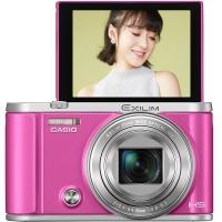 卡西欧(CASIO)EX-ZR3700 数码相机(3.0英寸 广角25mm 180度可上翻液晶屏)美颜自拍相机 玫红色