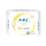ABC 轻透薄 棉柔表层 超薄 日用卫生巾 多片装 240mm*18片(KMS配方)