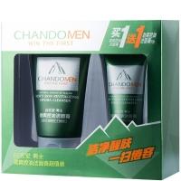 自然堂(CHANDO)男士劲爽控油洁面膏超值装 100g+50g(男士洗面奶)