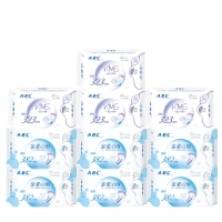 ABC全夜用超长超吸防侧漏卫生巾10包(共30片 新旧包装随机发货)