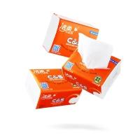 洁柔(CS)抽纸 活力阳光橙 3层120抽面巾纸*24包(整箱销售 软抽纸巾200*123mm)
