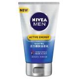 妮维雅(NIVEA)男士活力醒肤洁面乳100g(洗面奶男 深层清洁 活力抗倦 护肤品)