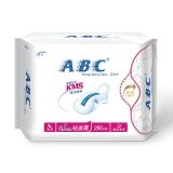 ABC 轻透薄 棉柔表层 超薄 夜用卫生巾  280mm*8片(KMS配方)
