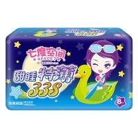 七度空间(SPACE7) 少女特薄系列卫生巾 绢爽表层特薄超长夜用338mm*8片(新老包装随机发货)