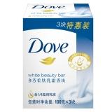 多芬(DOVE)香皂 柔肤乳霜香块100gx3