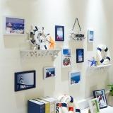 多美忆 照片墙带置物架相框墙8框创意组合相片墙欧式客厅相框挂墙环保防潮 情在地中海