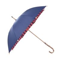 obolts双层长柄雨伞防晒晴雨两用女生粉色女神防风加固竹木柄双人大伞
