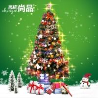 晟旎尚品 圣诞树套餐 圣诞节装饰挂件 加密圣诞树套装彩灯礼物 1.8米豪华套装