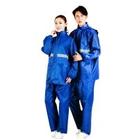 雨航(YUHANG)层夜光型分体男女套装雨衣雨披 大帽檐 均码蓝色