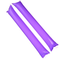 京唐 节庆啦啦棒加油棒 助威道具充气棒 学校运动会用品紫色80个装