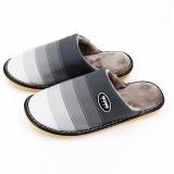 家博士(HOMEBOOS)JBS-MT001 冬季保暖棉拖 皮棉拖鞋 青灰色 男款46-47码