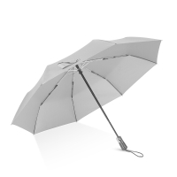 Hommy 折叠全自动晴雨伞 加大加固男女休闲时尚商务出行防风挡雨遮阳防晒自动收开两用伞 灰色