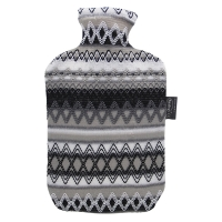 费许(FASHY)2.0升PVC材质黑白色6757秘鲁风情外套热水袋