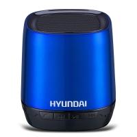现代(HYUNDAI) i80 无线蓝牙音箱 语音通话 TF插卡 语音提示 来电回拨 锂电供电 音响 蓝色