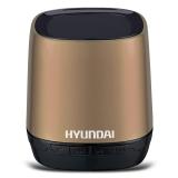 现代(HYUNDAI) i80(香槟金) 无线蓝牙音箱 语音通话 TF插卡 语音提示 来电回拨 锂电供电音响